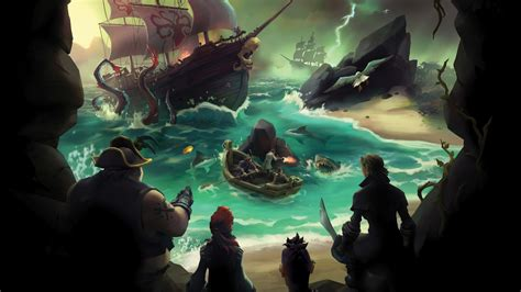 wallpaper sea  thieves gamescom  pirates