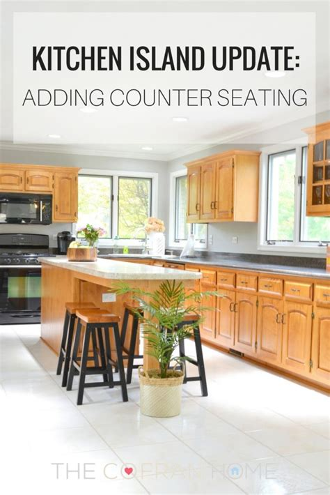 how to add a kitchen island kitchen island update adding counter seating the cofran