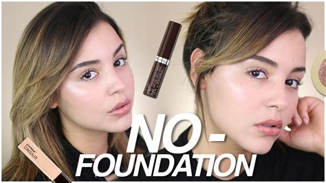 no foundation makeup routine using drugstore products no makeup makeup look