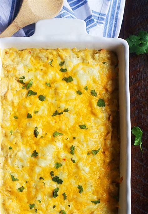 Love this easy chicken enchilada casserole recipe! Layered Chicken Enchilada Casserole - Layered Bbq Chicken ...
