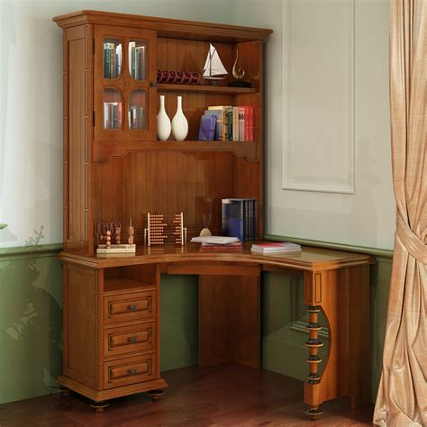 corner desk with bookshelf american wood computer desk corner bookcase combination of