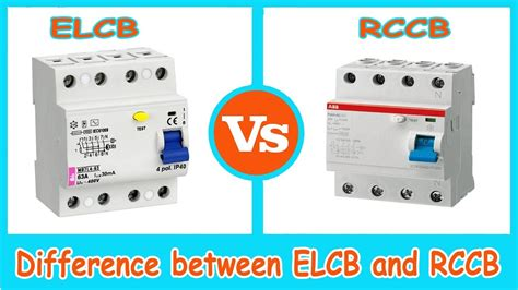 elcb rccb difference between elcb and rccb youtube