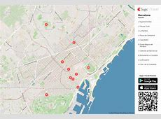 Barcelona Mapa turístico em pdf Sygic Travel