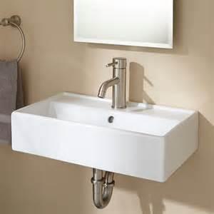Wall Mounted Bathroom Faucet Height magali wall mount bathroom sink white ebay