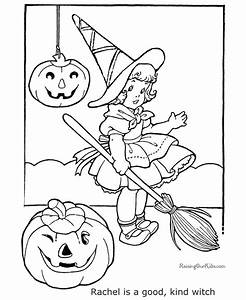 Witch Halloween coloring page - 014