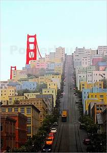 San Francisco Bilder : john morris san francisco and golden gate bridgee poster ~ Kayakingforconservation.com Haus und Dekorationen