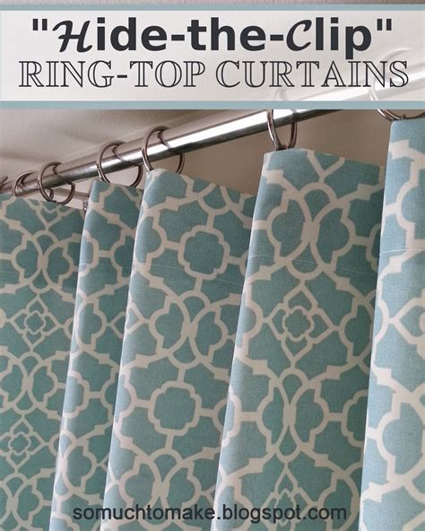 How To Use Drapery Rings by Quot Hide The Clip Quot Ring Top Curtains Window Living Rooms