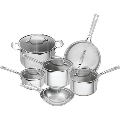 emeril lagasse  piece stainless steel copper core cookware set cookware set induction