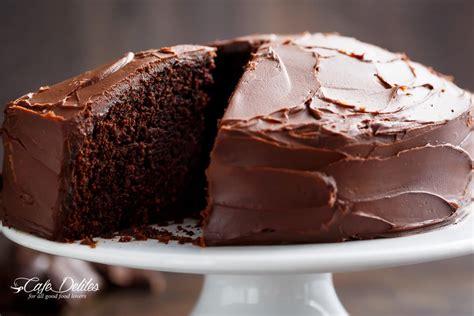 fudgy chocolate cake cafe delites