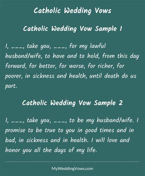 catholic wedding vows wedding vows  husband