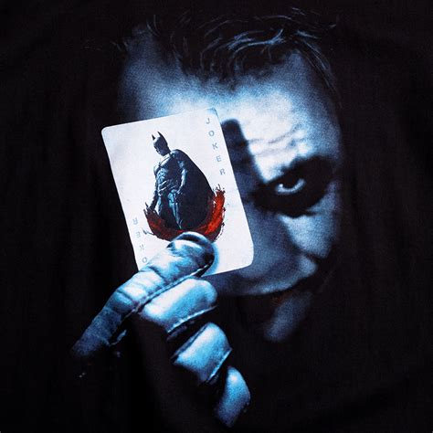 joker batman kostüm batman the joker karte t shirt heath ledger trumpf comic shirt