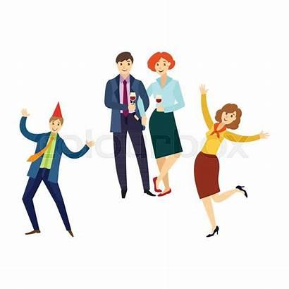 Party Fun Having Office Corporate Cartoon Happy
