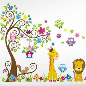 Wandtattoo Tiere Kinderzimmer : wandtattoo wandsticker wandaufkleber kinderzimmer wald ~ Watch28wear.com Haus und Dekorationen