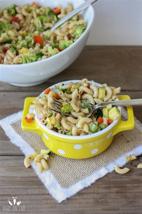 quick and easy veggie pasta salad