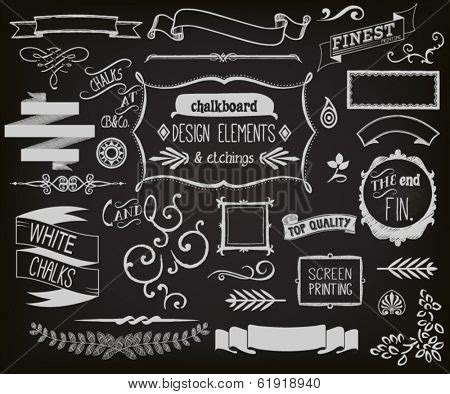 chalkboard design elements vector photo bigstock