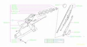 1995 Subaru Legacy Wiper Setting Rubber  Exc Ssv  For