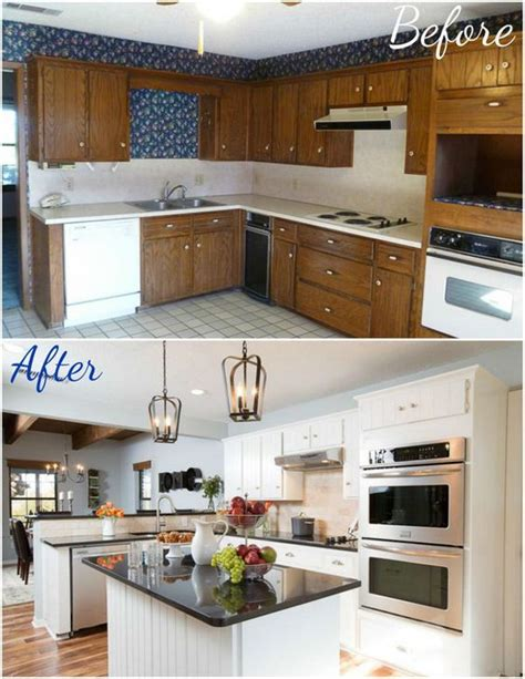 Kitchen Before And After by Pretty Before And After Kitchen Makeovers Noted List