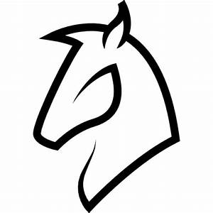 Horse head outline Icons | Free Download