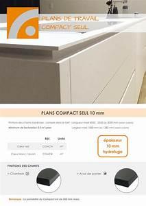 Plan De Travail Compact : plan de travail compact 10 mm fidelem plans stratifi s ~ Dailycaller-alerts.com Idées de Décoration