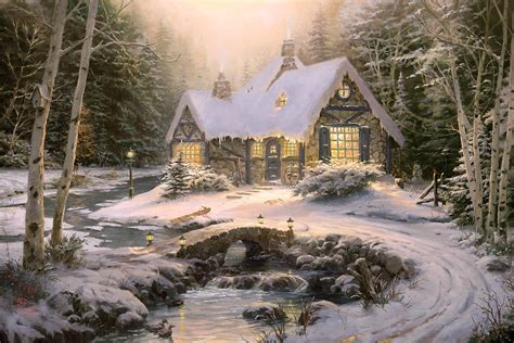 Winter Cottage Winter Light Cottage Limited Edition The