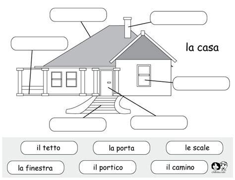 italian printable worksheet house imparare lo spagnolo