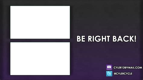 Twitch Be Right Back Screen Template How To by Afk Screen Overlay For Your Stream By Sasucd On Deviantart