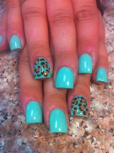 best 25 teal acrylic nails ideas on