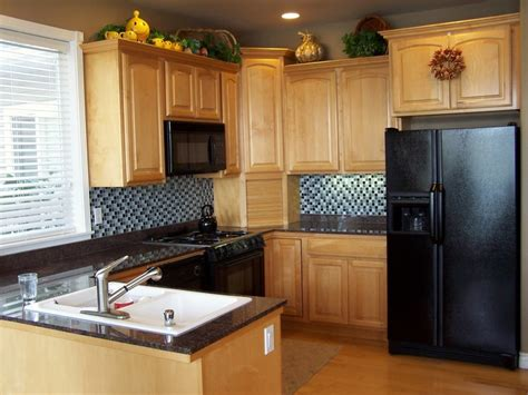 small kitchen cabinets ideas light brown wooden kitchen cabinet with many storage on 5422