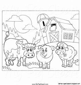 Farm Animal Outline Clip Art (17+)