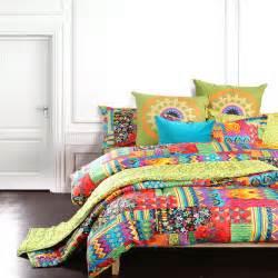 bohemian exotic bedding colorful modern duvet cover queen king size bed sheet european unique