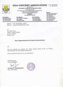 Appointment, Letter