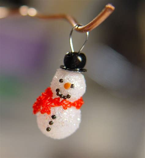 scale miniature snowman ornament wred scarf
