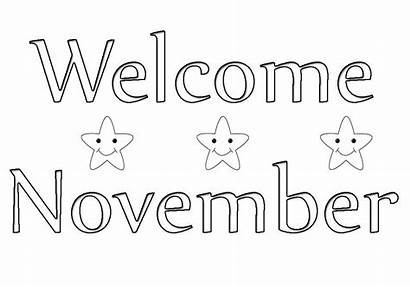 Pages November Coloring Welcome Preschoolers Toddlers Themed