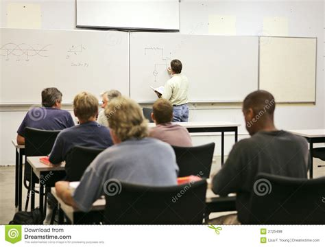 adult education class royalty  stock  image