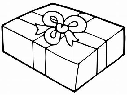 Coloring Gift Box Christmas Pages Boxes Printable