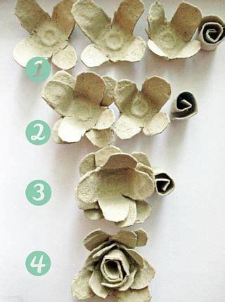 egg carton roses paper flowers diy egg