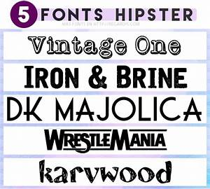5 Fonts Hipster Gratis » Regardis
