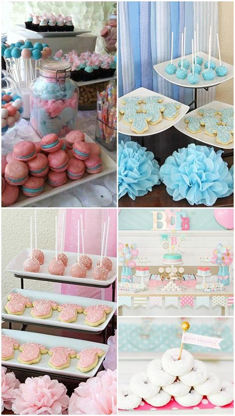Gender reveal party ideas for a baby shower, cupcakes and lollipop : 10 Gender Reveal Party Food Ideas that are Mouth-Watering | Gender reveal party food, Gender ...