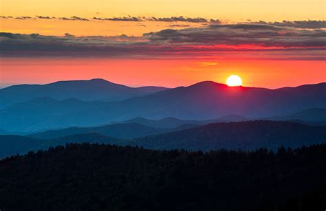 Clingmans Dome Sunset  Great Smoky Mountains National