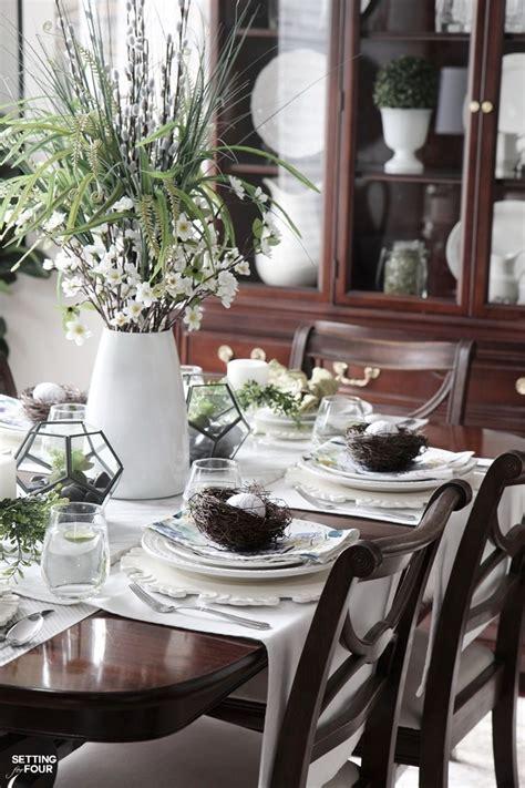 beautiful natural table setting  spring setting