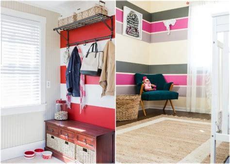 Babyzimmer Wandgestaltung Streifen by Wand Streichen Ideen Streifen Horizontal Bunte Farben