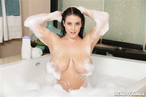 Sappy Brunette Angela White Gets Shafted In The Bathroom