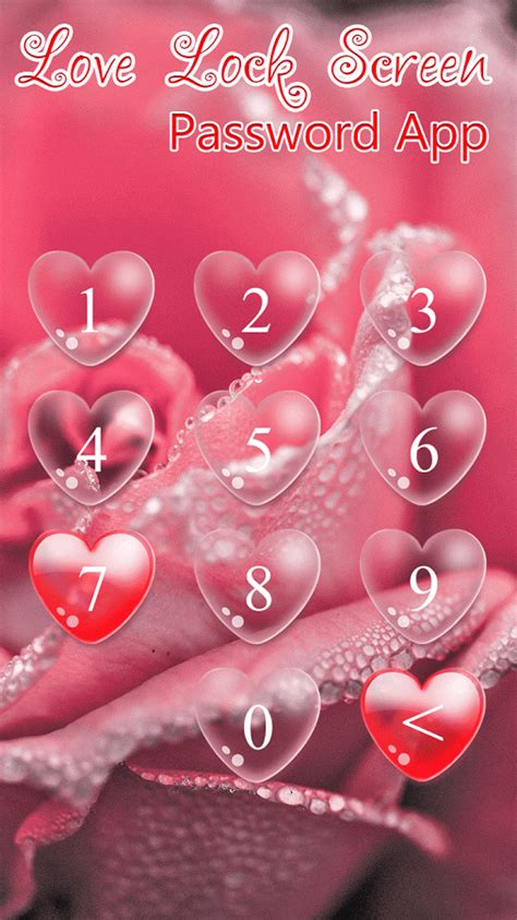love lock screen password app  android