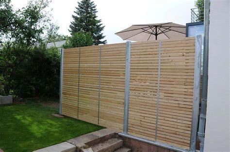 Sichtschutz Aus Metall by Sichtschutzzaun Holz Metall Verzinkt L 228 Rche Secret 6