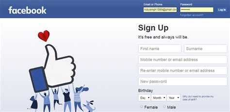 login in mobile phone f b fb login guide how to sign up log in into