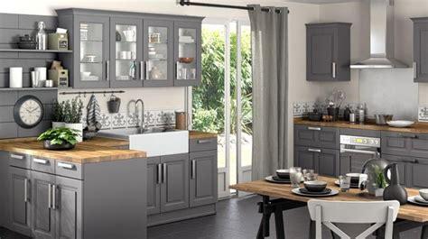 cuisine grise et cuisine grise et bois top cuisine