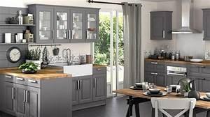 cuisine grise et bois top cuisine With salle À manger contemporaine avec cuisine gris anthracite et bois
