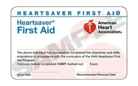 heartsaver  aid cards