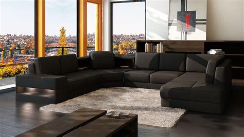 canapé panoramique cuir pas cher canapé panoramique grace design personnalisable pas cher