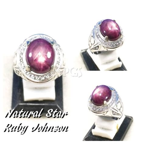 jual cincin batu akik permata natural ruby johnshon